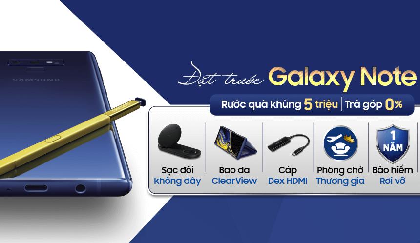 Sở hữu Galaxy Note 9, nhận đặc quyền bảo hiểm trong suốt 1 năm